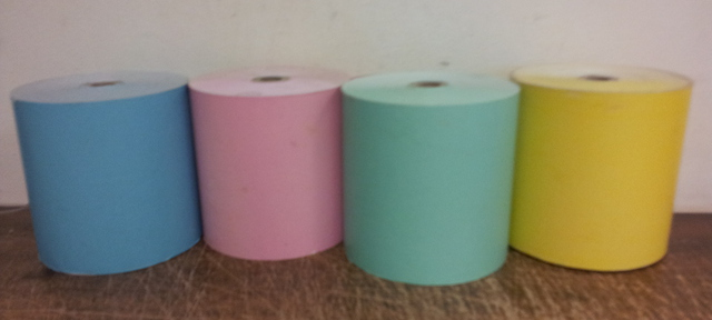 24 Thermal Rolls 80 x 80 Coloured